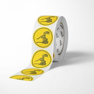 Corona stickers op rol