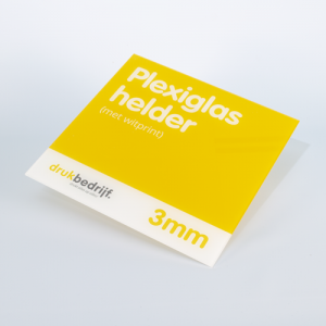 PlexiglasHelder Met Wit print