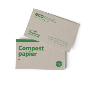 Compostpapier visitekaartjes