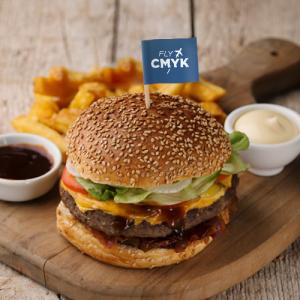 Hamburger prikker met logo