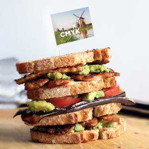 Sandwichprikker met logo