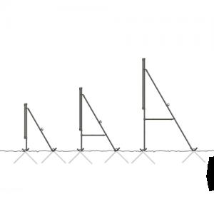 vrijstaand frame spandoek