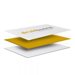 visitekaartjes met gekleurde zijkant